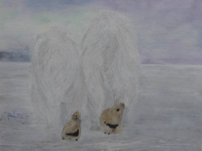 Polar Bears (acrylic)